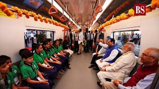 PM Modi flags off Metro Rail projects in Ahmedabad