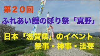 第20回ふれあい鯉のぼり祭「真野」2017:日本『滋賀県』のイベント・祭事・神事・法要No.001