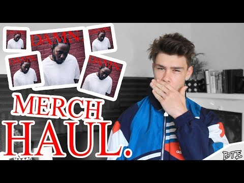 Kendrick Lamar DAMN Merchandise Haul (Concert And Pop Up Shop)