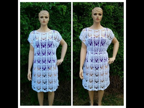 """Learn How To Crochet """"Pineapples In The Sun"""" Swimsuit cover Ladies Dress Ladies Top TUTORIAL #402"""