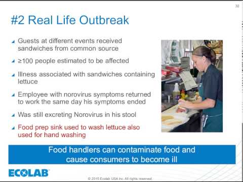 Ecolab Food Safety Matters Webinar January 2015