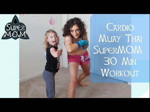 Cardio Muay Thai 30 Minute SuperMOM Workout
