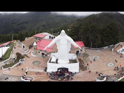santuario-montaña-guadalupe-bogotá,-panorama-360-drone