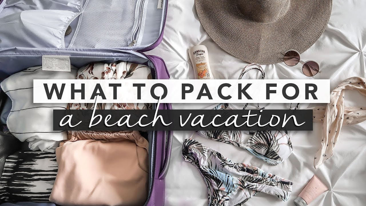 309eab1d0 Pack With Me! Suitcase + Carry On for Beach Vacation - YouTube