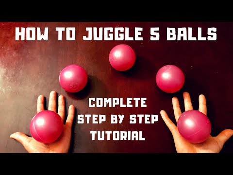 How To Juggle 5 Balls Tutorial, Complete Guide