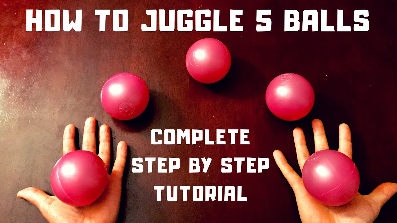 Tutorial how to juggle 5 balls instructional video youtube.