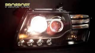 Тюнинг Фары Митсубиси Паджеро 3   Headlights Mitsubishi Pajero 3
