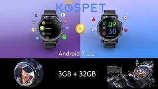 Unboxing & review for the KOSPET Optimus Pro android smartwatch phone 3GB+32GB,4G,SIM,Call,800mAh