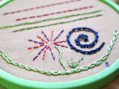 Learn Hand Embroidery With Me Pt 1 Chain Stem Straight Back