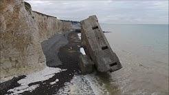 Drone - Blockhaus planté de Sainte Marguerite sur Mer (Normandie)