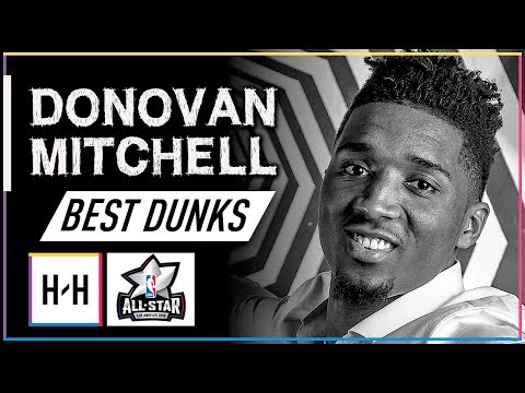 Donovan Mitchell EVERY DUNK from his 2017-18 NBA Rookie Season! | 2018 All-Star Preview
