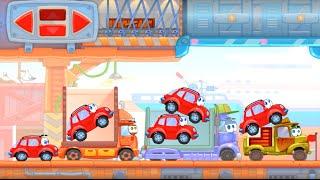 Мультик игра - Машинка вилли 7 прохождение. Вилли убегает от злых грузовиков. Игра про машину