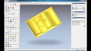 How to do a flag relief in ArtCAM, ArtCAM relief tutorial