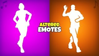 Fortnite Emotes that were CHANGED..! (Deleted Versions with LEAKED SKINS) Fortnite Battle Royale