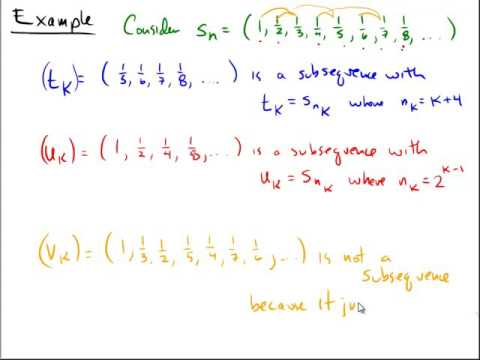 Subsequences in Real Analysis