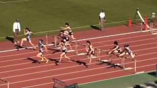 2017東部高校総体 女子100mH 決勝