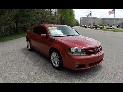 2012 Dodge Avenger Rt Red Used Cars Martinsville In Sunroof