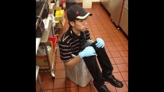 Burger King Schizophrenic employee dump crap again