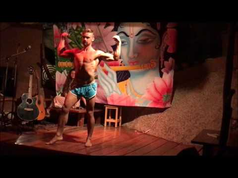 Dale Webb Mr Organic Open Mic Dancing Bodybuilding Show Thailand