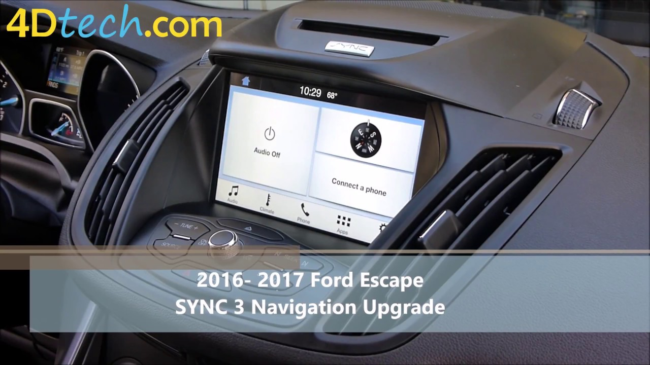 add factory navigation to sync 3 2016 2017 ford escape. Black Bedroom Furniture Sets. Home Design Ideas