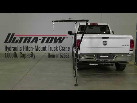 UltraTow Hydraulic HitchMount Truck Crane  1000Lb. Capacity