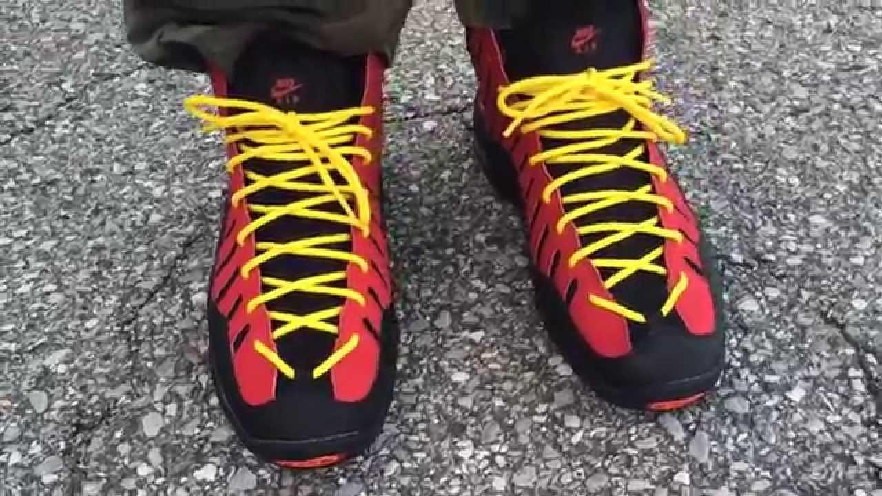0e8ca31b0c0b Nike Air Bakin on feet - YouTube