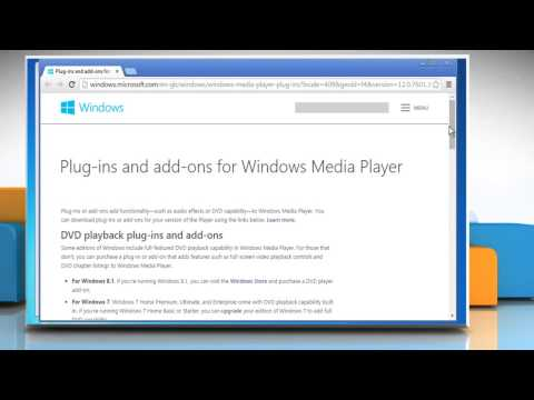 How To Download A Windows® Media Player Plug-in From The Internet