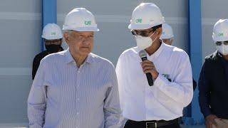 Inauguración de unidades de generación turbogás aeroderivadas, desde La Paz, Baja California Sur