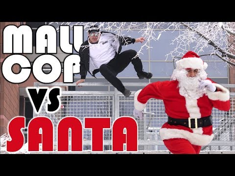 MALL COP VS BAD SANTA | PARKOUR