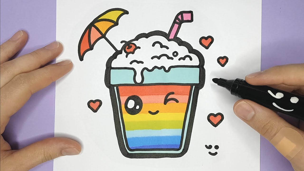 Milkshake coloring and drawing for Kids, Toddlers | Happy ...