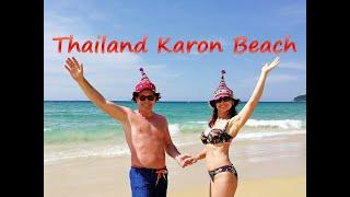 Тайланд Пхукет Пляж Карон Фото клип Thailand Phuket Karon Beach