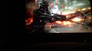 Star Wars Battlefront 2 Campaign Xbox One X 4K on Epson 5040 Projector