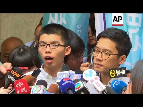 Hong Kong activist Joshua Wong freed on bail, pending appeal