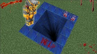 DON'T JUMP INSIDE THIS LAPIS HOLE IN THE GROUND !! DANGER STAY AWAY !! Minecraft Mods
