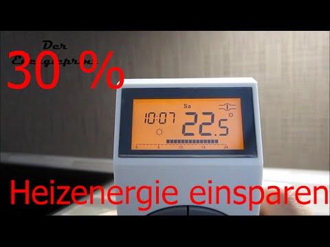 Heizkörper-Thermostat 30% Energie einsparen