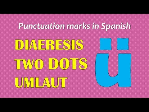Punctuation Marks In Spanish: DIERESIS/TWO DOTS/UMLAUT