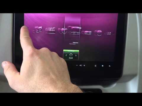 Qatar Airways Oryx in-flight entertainment system