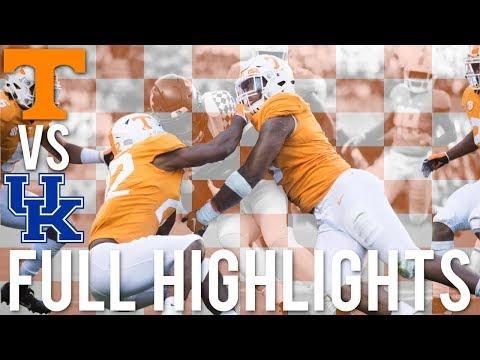 Tennessee Football Highlights vs Kentucky (2018) | HD