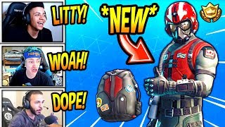 LES STREAMERS RÉAGISSENT À LA PEAU « NEW » « WINGMAN » ! (STARTER PACK) Fortnite SAVAGE - Moments FUNNY