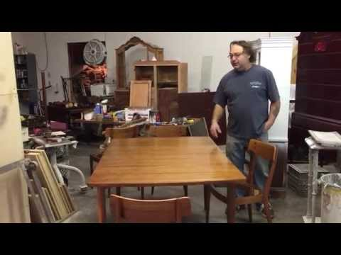 refinishing a art deco walnut dining table and chairs