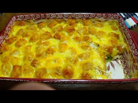 Absolutely Delicious Chicken Breast Tater Tot Pot Pie - Freezer Meal as well!!