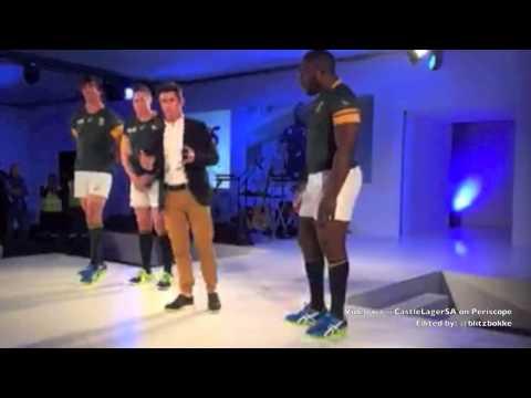 Asics Springbok Jersey Launch