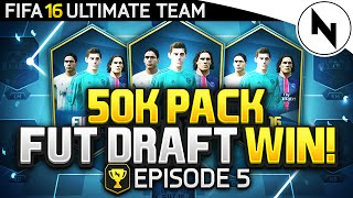 EPIC 50K PACK DRAFT WIN! - RTG#05 - FIFA 16 Ultimate Team
