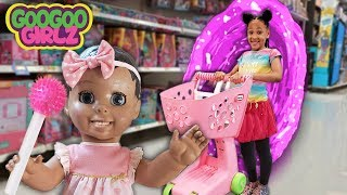Doll Plays Hide and Seek While Goo Goo Girlz Shop for Food!