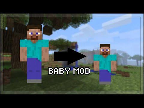 Erklärung wie man ein Baby sein kann in Minecraft PE auf Handy auf Deutsch Erklärung