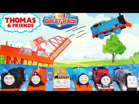 THOMAS AND FRIENDS THE GREAT RACE TRACKMASTER SKY HIGH BRIDGE JUMP TRAINS FLY SPENCER DIESEL 10