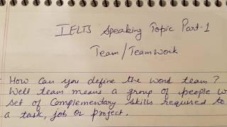 Gambar cover TEAM/ Teamwork | Ielts speaking Part-1 topic | IDP & BC| Ielts wisdom|