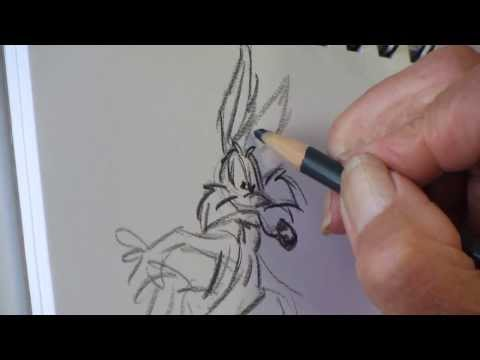 Cartoonist Lee Holley draws Road Runner & Wile E. Coyote – 9/2/2013 – Aptos, CA