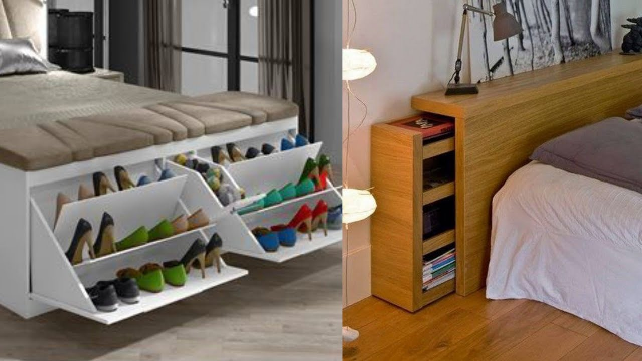 100 Bedroom Storage Ideas - Small Bedroom Hacks 2020 - YouTube