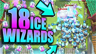 "Clash Royale – HOW IS THIS POSSIBLE?! ""OMG!"" SPAWNING 18 'ICE WIZARDS!' (Clash Royale Funny Moments)"
